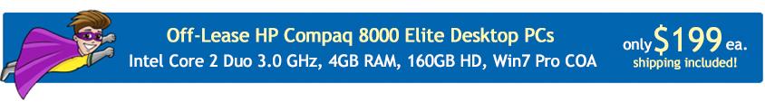 HP Compaq Elite 8000 Off-Lease PCs